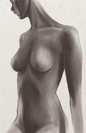 裸婦のラフ
