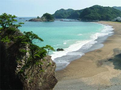 日和佐の海岸