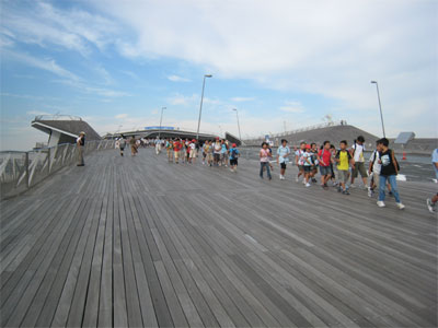 大桟橋デッキ。