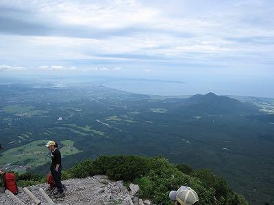 大山9合目付近の景色