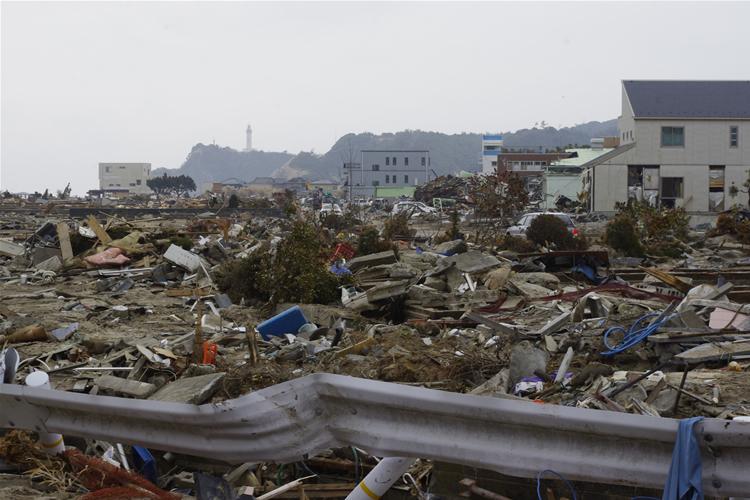 いわき市豊間地区被災地状況