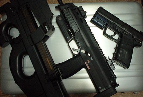 FN P90、HK MP7、HK USP