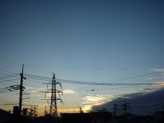 20111004夕焼け