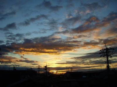 20111107朝焼け