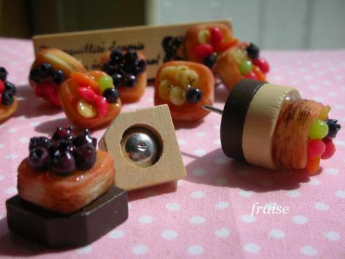フルーツデニッシュのプッシュピン3