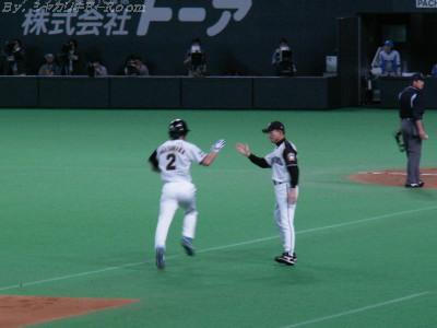 ガッツ「今季初」会心の当たり!