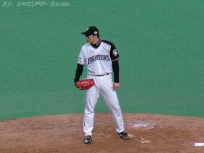 3球三振斬り!岡島!