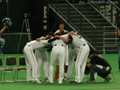 サワヤカ円陣w