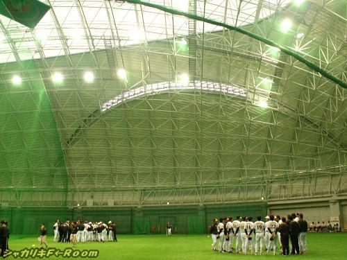 宜野座ドーム内部。