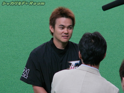 久さん、ロングインタビュー中。