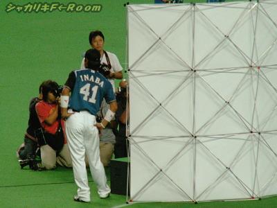いかんせん1塁側から見るお立ち台は、こんな塩梅orz