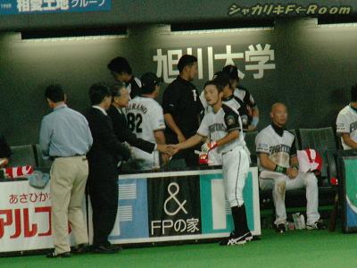 社長と握手(´▽`)