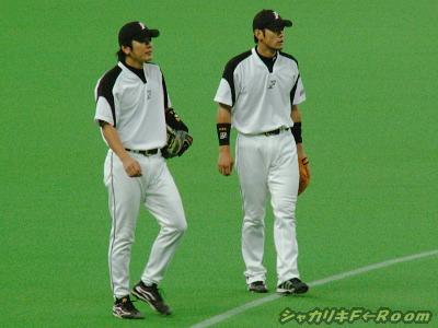 守備練・イナさん&ゆーじ…守備のスペシャリスト・ゆーじが、最後までノック受けまくってました。