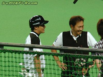 取材ラッシュその1/マック&西崎氏@ぞっこんスポーツ