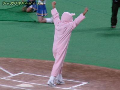 ウサギ跳びでゴールイン!のピンクの子…これが賢介の部屋着だったらどうしよう?