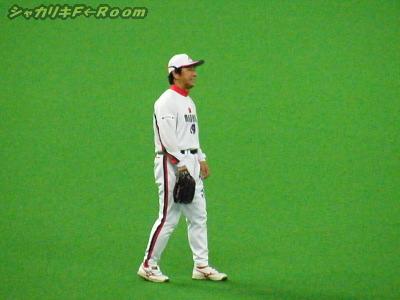 負けじと背走キャッチを見せた、レフト駒崎さん。