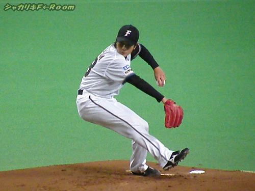 ケガ復帰後は若干球は高めに浮くものの、やはり安定感はあるマサル子さん。