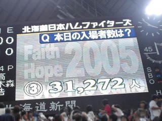 本日の入場者数・31272人!