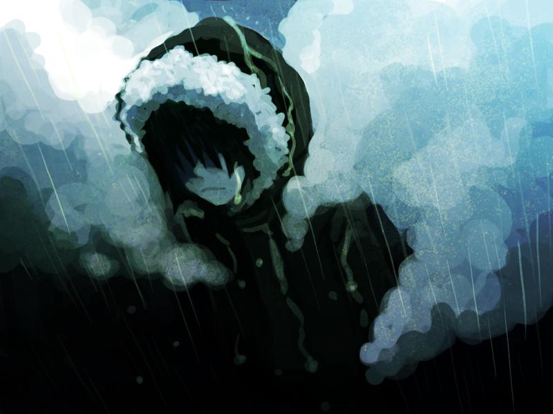 メメシイ自分を傘で隠さないよに