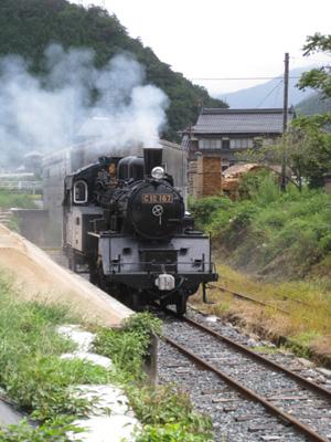棚田とSL走行会5
