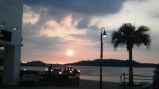 百道浜の夕焼け