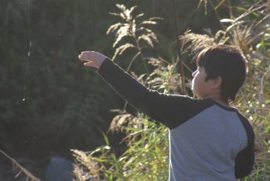 四十八瀬川で魚釣り2