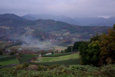秋の上秦野の眺め