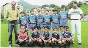 15 Aug 08 - Klemen Lavric in 1991/2, in the middle of the back row