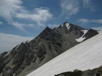 杓子岳 小雪渓越しに 090625_cIMG_1465