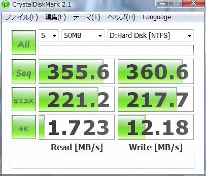 日立500GHDDx4 RAID0ベンチマーク
