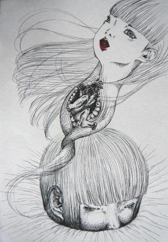 耳から少女