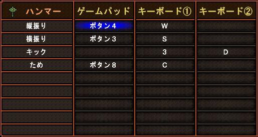 キー配列完成版・ハンマー