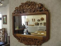 バラ 壁掛け鏡