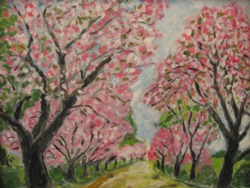 西都原の桜並木