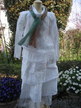 白ガーゼ スカーフ