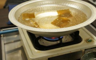 2鍋に湯を沸かす