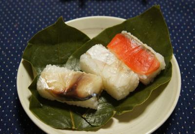 a柿の葉寿司・3種