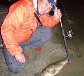 真冬の夜釣りその1