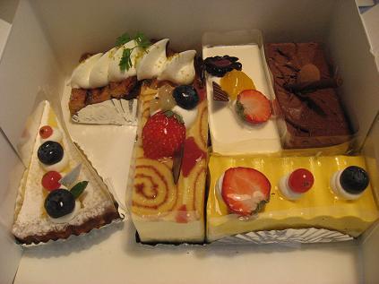 パティスリーのケーキ