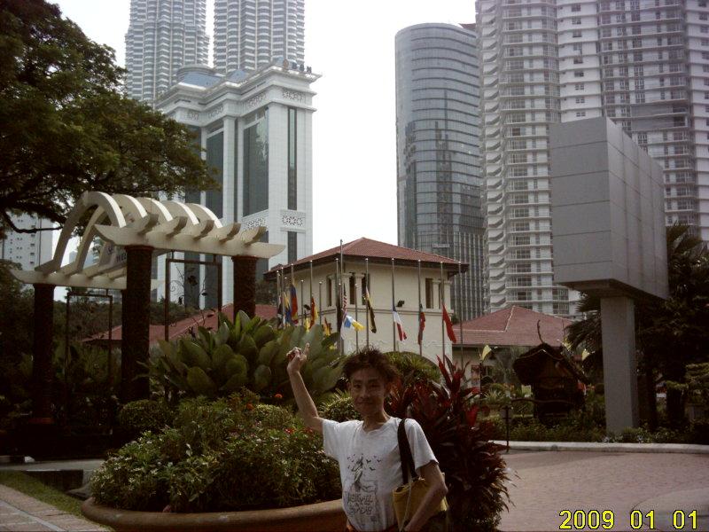 2009.1マレーシア ツインタワーと自分