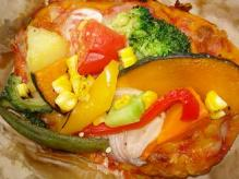 お野菜たっぷりオープンサンド