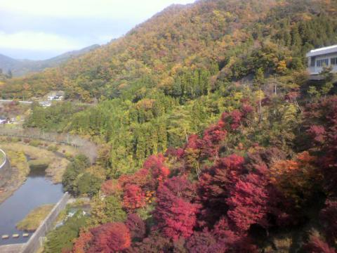 耶馬溪ダム付近