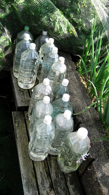 太陽光利用してお湯を。