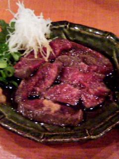 ホホ肉のポン酢1