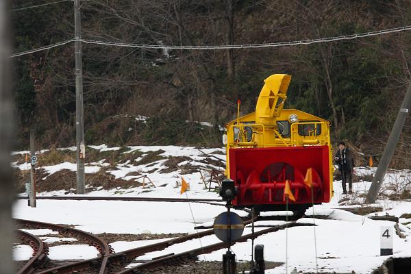 構内には投雪車が・・・・