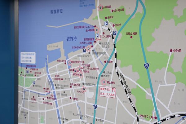 マップの敦賀港線の表示も・・・・