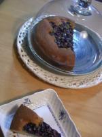 ブルーベリーとブルーポピーシードのケーキ
