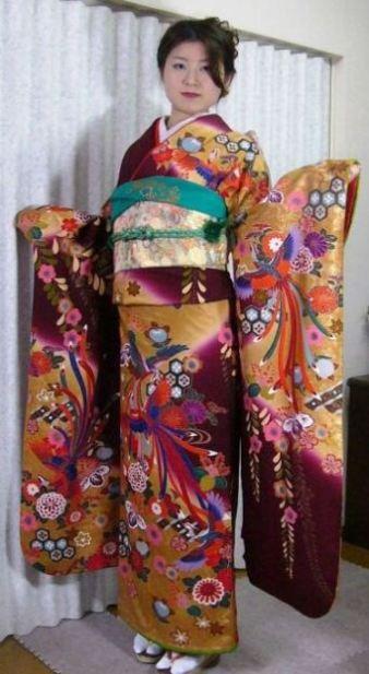 振袖貸衣装鳳凰 群馬県高崎市花がたみ着付教室