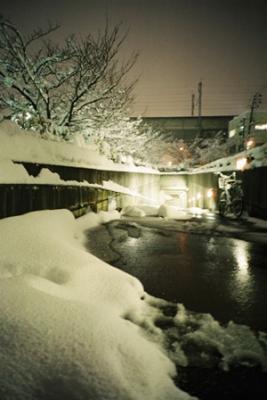 雪の地下道