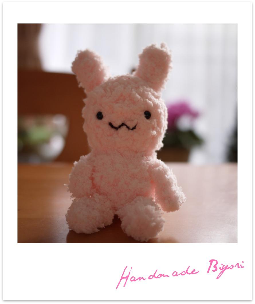 編みぐるみ☆ピンクうさぎミニ